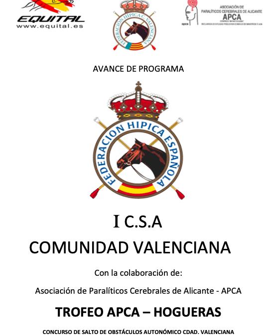 CONCURSO DE SALTO DE OBSTÁCULOS COMUNIDAD VALENCIANA HOGUERAS JULIO 2021